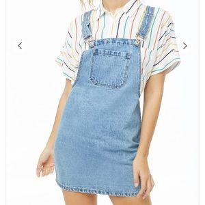Forever 21 Denim Overall Mini Dress size Large